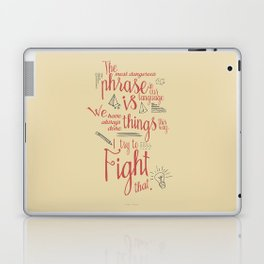 Grace Hopper quote, I always try to Fight That, Color version, inspiration, motivation, sentence Laptop & iPad Skin