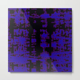 jitter, black blue, 3 Metal Print
