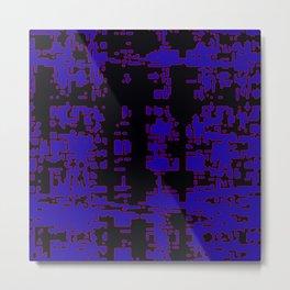 jitter, black blue, 3 Metal Print