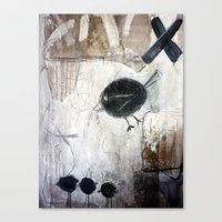 birdy Canvas Prints featuring birdy by woman