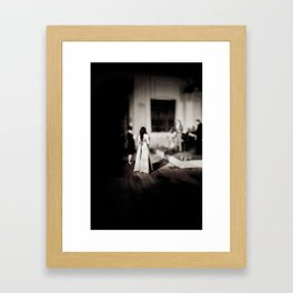 Miniature bride Framed Art Print