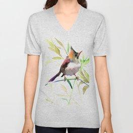 Bird art Unisex V-Neck
