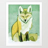 Mr. Squinty Red Fox Art Print