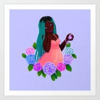 Turquoise Twists Art Print