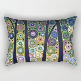 Abstract Art Landscape Original Painting ... Falling Light Rectangular Pillow