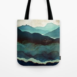 Indigo Mountains Tote Bag