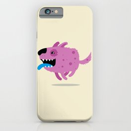 Purple dog iPhone Case