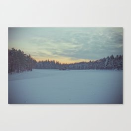 Frozen sunset. Canvas Print