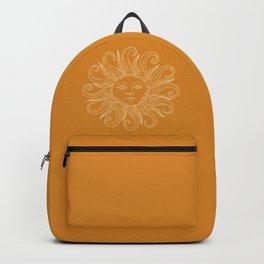 Boho Sun Drawing XX Gold Backpack
