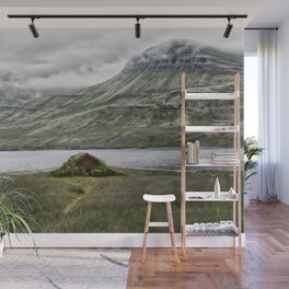 Tiny House on a Fjord - Iceland Wall Mural