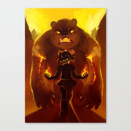 annie and tibbers Canvas Print