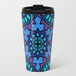 Blue mandala Travel Mug