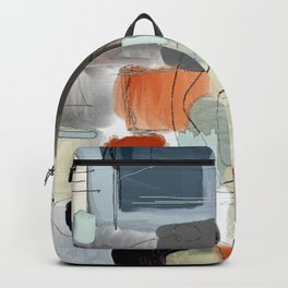 multicolored and geometric digital drawing Backpack