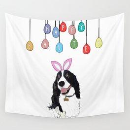 Happy Easter - Springer Spaniel Wall Tapestry