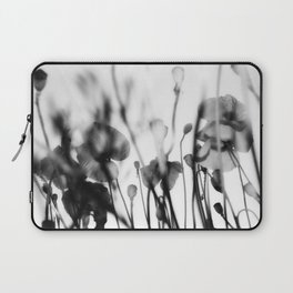 Black and White Poppies Laptop Sleeve