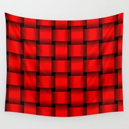 Large Red Weave Wall Tapestry