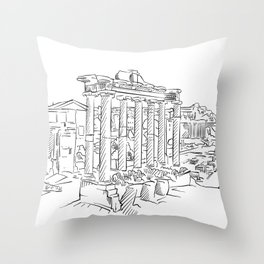 Ancient Rome roman forum Throw Pillow