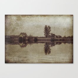 The old house on the lake Canvas Print