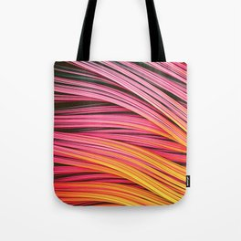 Pink & Heat Strands. Abstract Design Tote Bag