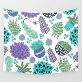Succulents Pattern Wall Tapestry