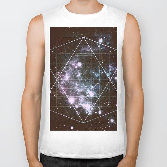 Galaxy Sacred Geometry dark Biker Tank