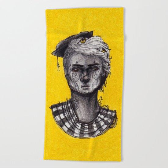 Seen in Yellow Beach Towel