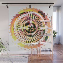 Warm Spiraled Exclusion Wall Mural