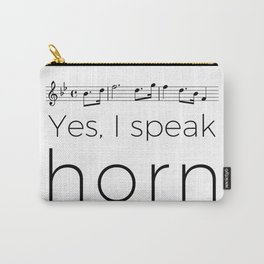 I speak horn Carry-All Pouch