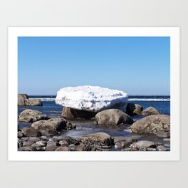 Perched on the Boulders Art Print