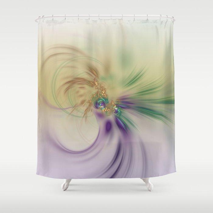 Fall Festive Fractal Shower Curtain