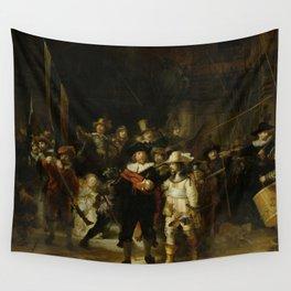 "Rembrandt Harmenszoon van Rijn, ""The Night Watch"", 1642 Wall Tapestry"