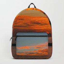 Sunset Sailboat Panorama Backpack