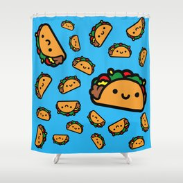Happy Taco Shower Curtain