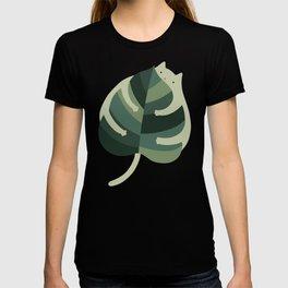 Monstera Cat Hug T-shirt