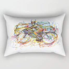 Bulls Biker Rectangular Pillow