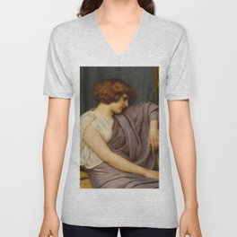 "John William Godward ""Briseis"" Unisex V-Neck"