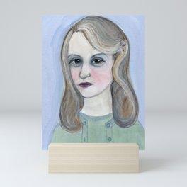 Colossus of Plath, Sylvia Plath Literary Portrait Mini Art Print