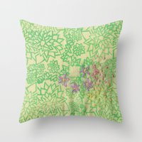 the thing Throw Pillows featuring Thing by Annesleyart