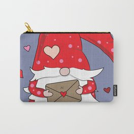 Cute Red Gnome with Love Letter Carry-All Pouch