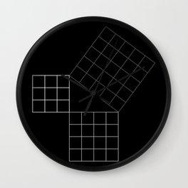 Pythagoras Theorem Wall Clock