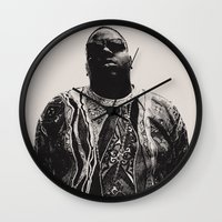 notorious Wall Clocks featuring Notorious by Ricca Design Co.