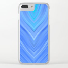 stripes wave pattern 3 c80 Clear iPhone Case
