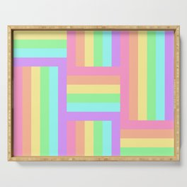 Woven Rainbow 2 Serving Tray