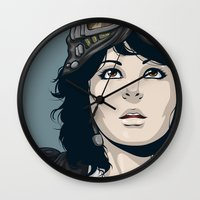 pilot Wall Clocks featuring Pilot by Kimball Gray