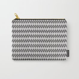 Guitars (Tiny Repeating Pattern on White) Carry-All Pouch
