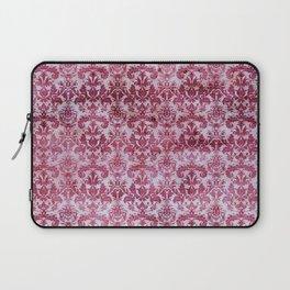 Vintage Antique Pink-Magenta Wallpaper Pattern Laptop Sleeve