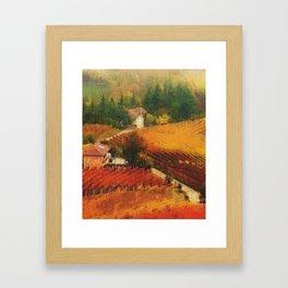 Tuscany Vineyards Framed Art Print