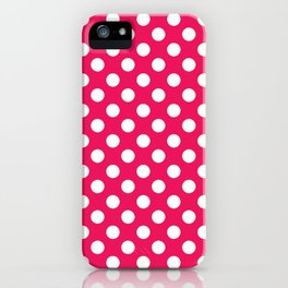 Infra Red Polka Dot Pattern iPhone Case