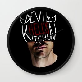 The Devil of Hell's Kitchen Wall Clock