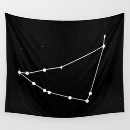 CAPRICORN (BLACK & WHITE) Wall Tapestry